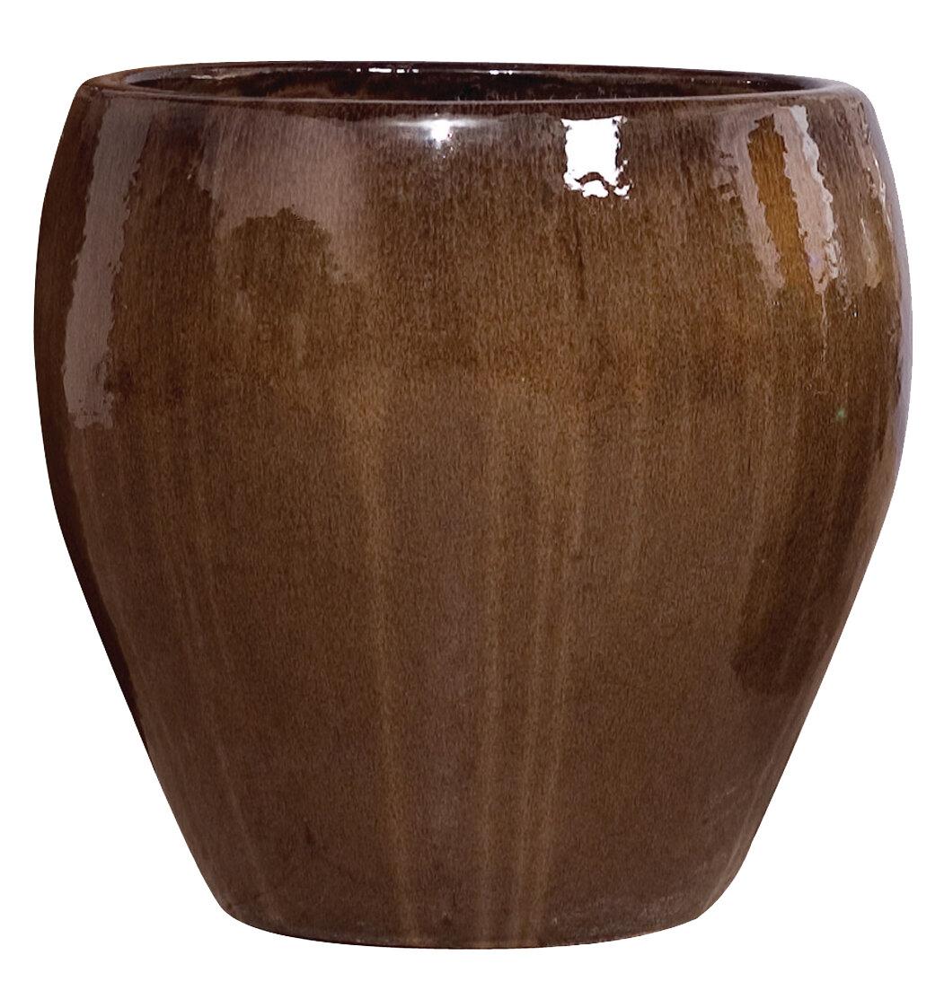 Emissary Large Round Glazed Ceramic Pot Planter Wayfair