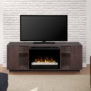 perspective tv furnitech with corner cherry dark fireplace w stand electric shaker in stands