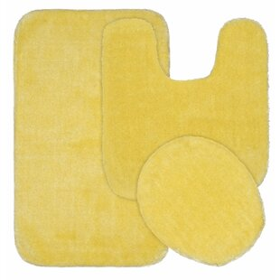 Seaforth Nylon Washable 2 Piece Bath Rug Set
