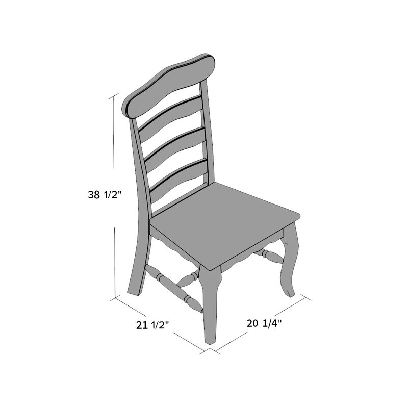 Toby French Country Solid Wood Dining Chair