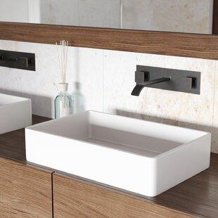 Save Vigo Matte Stone Rectangular Vessel Bathroom Sink