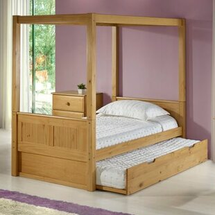 Oakwood Twin Canopy Bed with Trundle & Modern Canopy Kids Beds | AllModern