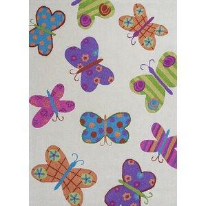 Kaylee Ivory Butterflies Area Rug