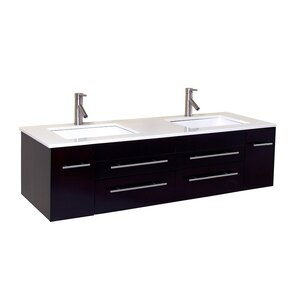Bellezza 59 Double Bathroom Vanity Set