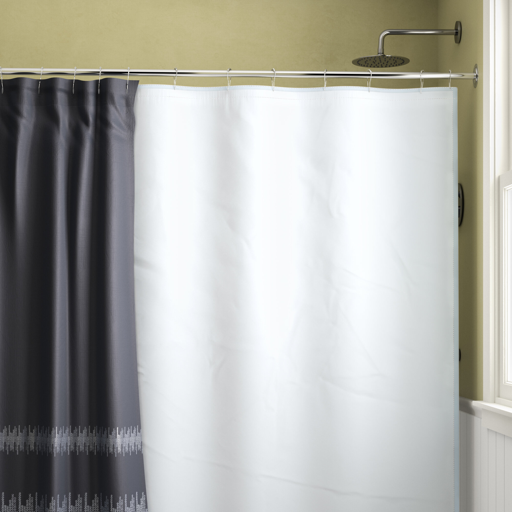 Symple Stuff Waterproof Shower Curtain Liner & Reviews | Wayfair