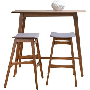 Fletcher 3 Piece Pub Table Set  sc 1 st  AllModern : bar table and chair set - pezcame.com