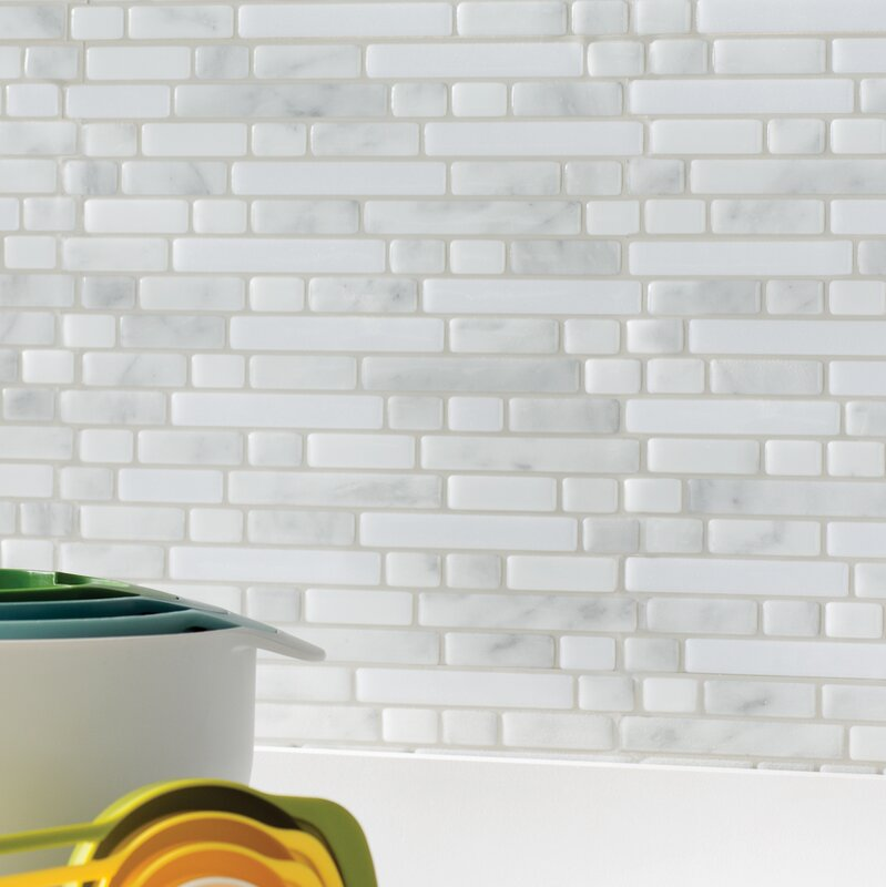 """What Are Subway Tiles smart tiles mosaik 10"""" x 10"""" subway tile in white/gray & reviews"""
