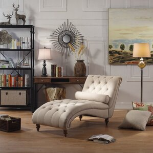 Yarmouth Chaise Tufted Lounge Chair by House of Hampton
