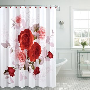 Fancy Roses Single Shower Curtain