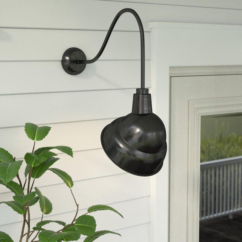 Gracie Oaks Rachit 1-Light Outdoor Barn Light & Reviews