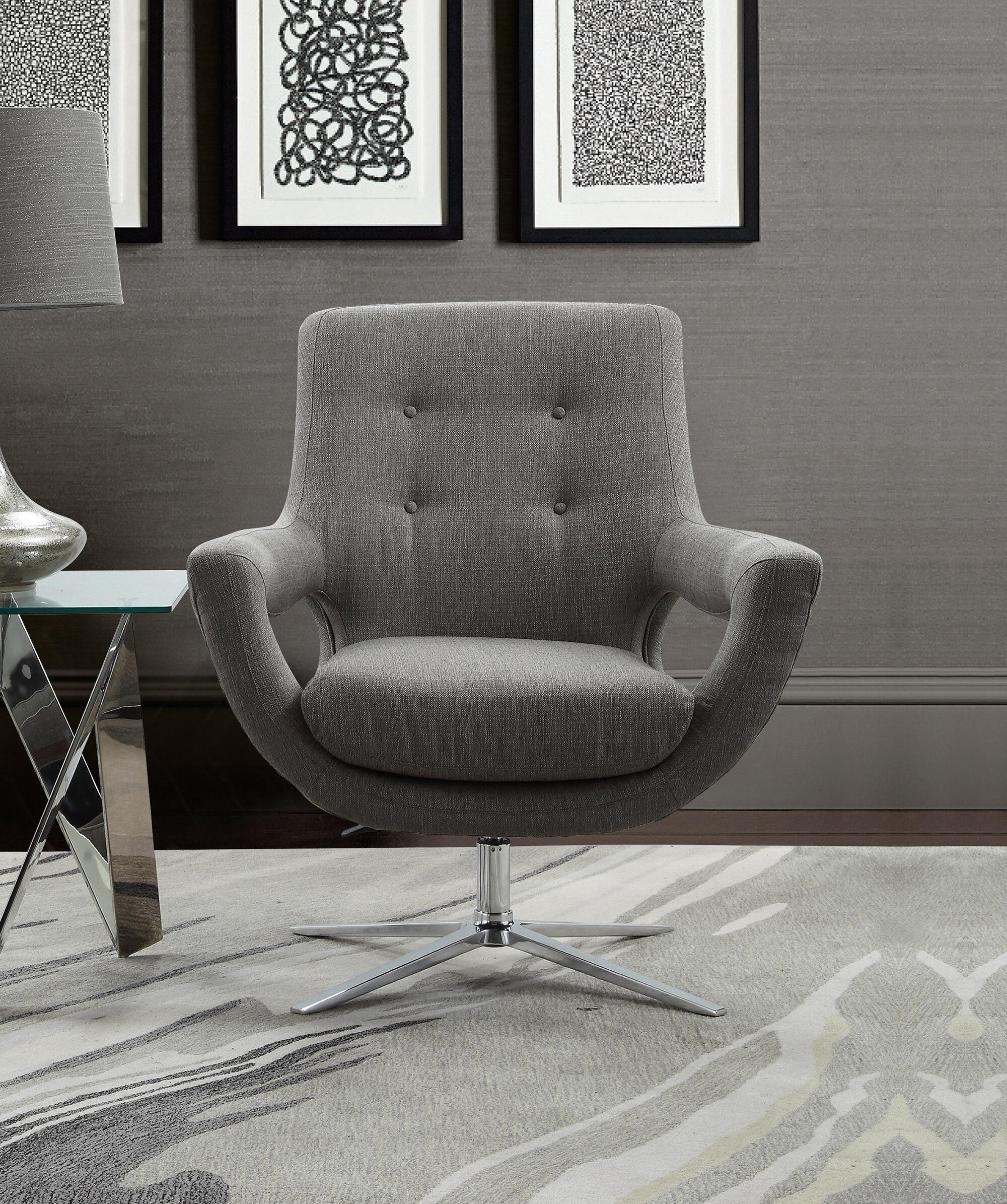Orren Ellis Humiston Contemporary Adjustable Swivel Armchair | Wayfair