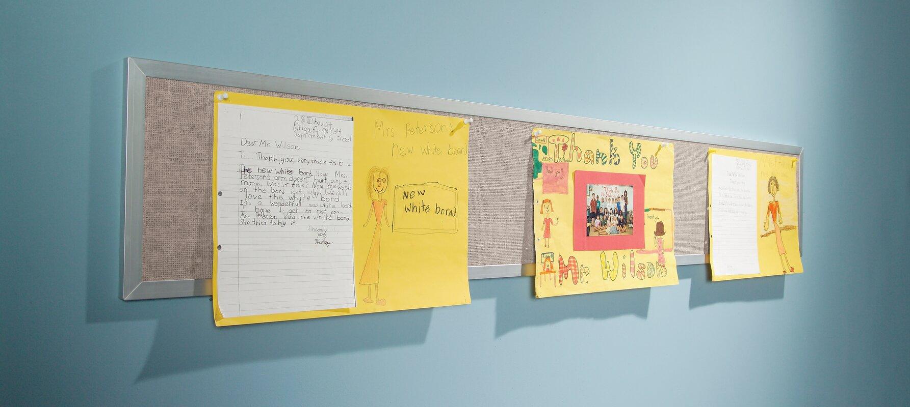 Best-Rite Tackboard Display Vinyl Panel Wall Mounted Bulletin Board ...