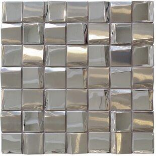 Façade 1 88 X Metal Mosaic Tile In Mirror