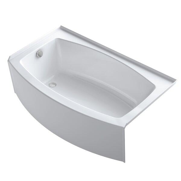 bath tub.  Kohler Expanse Curved 60 x 30 36 Soaking Bathtub Reviews Wayfair
