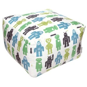 Robots Lime Pouf Ottoman by Aimee Wilder Designs