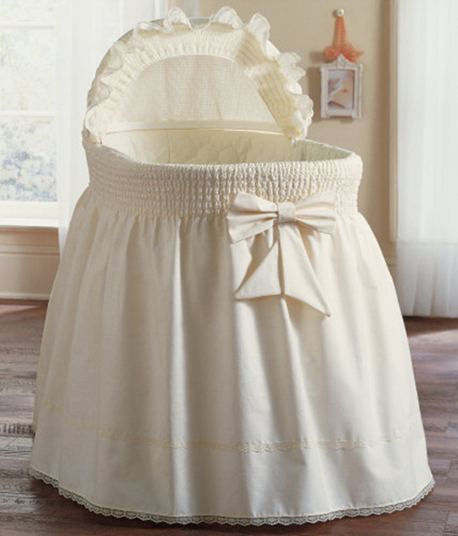 harriet bee jeannette sea shell bassinet bedding set reviews wayfair - Bassinet Bedding