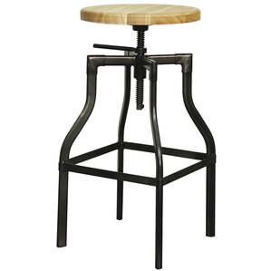 Industrial Adjustable Height Bar Stool by New P..