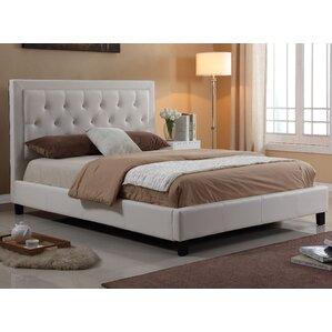 dinis diamond headboard upholstered platform bed
