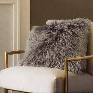 Mongolian fur pillows Gold Quickview Wayfair Mongolian Fur Pillow Wayfair