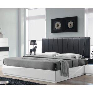 Linehan Upholstered Platform Bed by Wade Logan