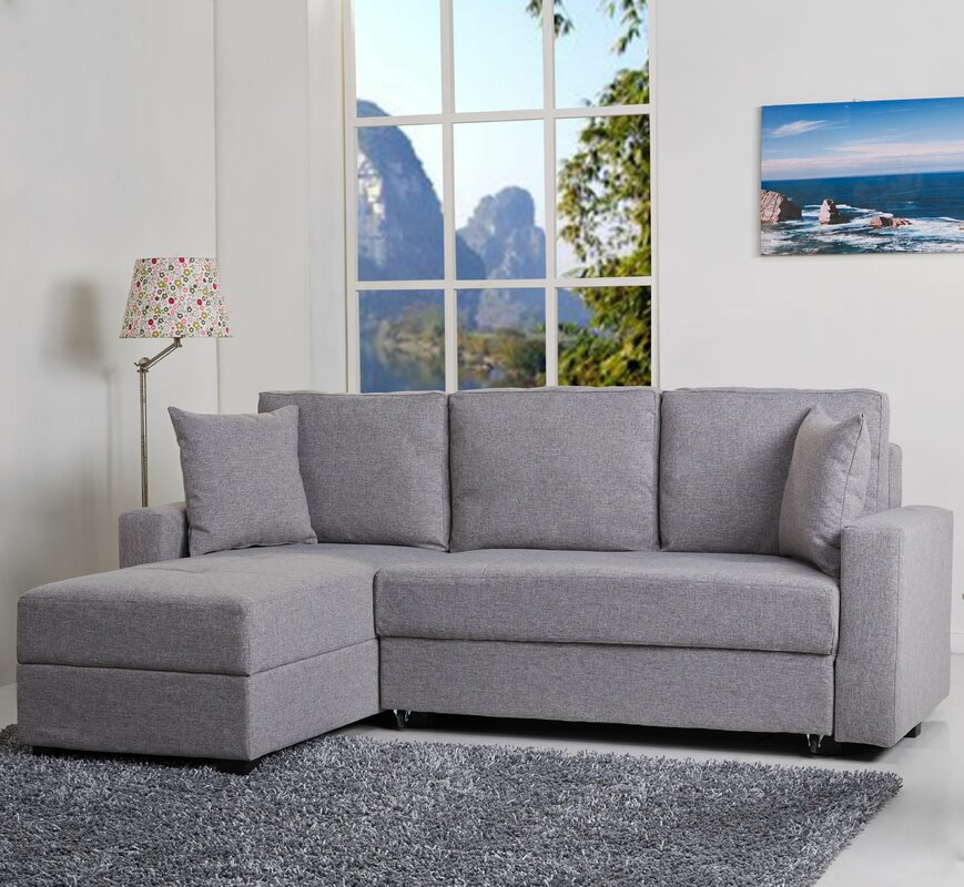 Hartsville Reversible Chaise Corner Sofa Bed : corner sofa bed chaise - Sectionals, Sofas & Couches