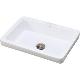 Classically Redefined Ambre Ceramic Rectangular Vessel Bathroom Sink
