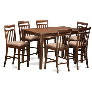 Araminta 7 Piece Counter Height Pub Table Set