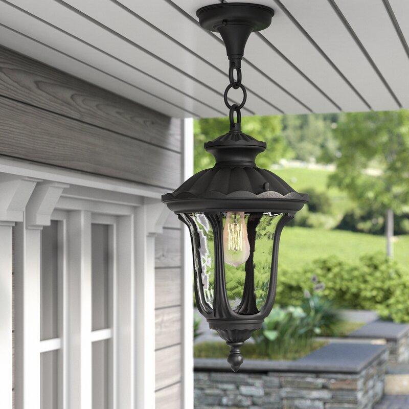 Captivating Gurnee 1 Light Outdoor Hanging Lantern
