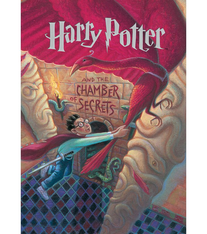 photo regarding Harry Potter Book Covers Printable named Harry Potter E-book Go over - Chamber of Secrets and techniques Impression Artwork Print