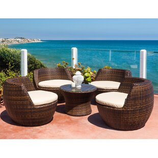 d895410dad70 Ohana 5 Piece Rattan 2 Person Seating Group with Cushions