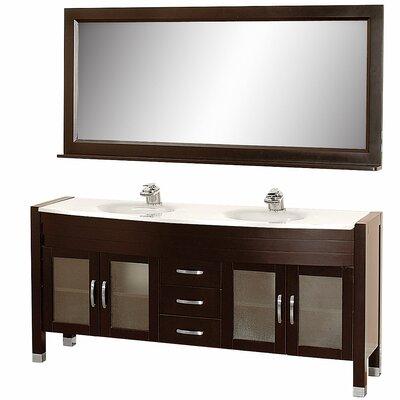 Daytona 70 5 Double Espresso Bathroom Vanity Set With Mirror