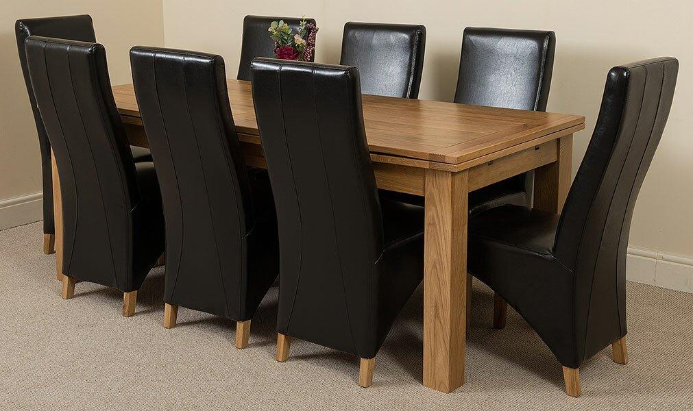 red barrel studio essgruppe upslope mit ausziehbarem tisch und 8 st hlen bewertungen. Black Bedroom Furniture Sets. Home Design Ideas