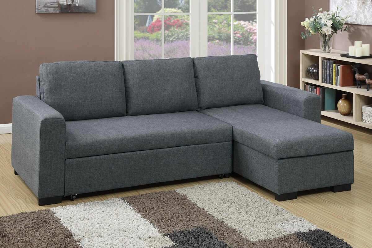 bobkona jassi sleeper sectional. poundex bobkona jassi sleeper sectional  reviews  wayfair
