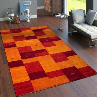 Alanna Handmade Wool Orange/Red Rug by Longweave