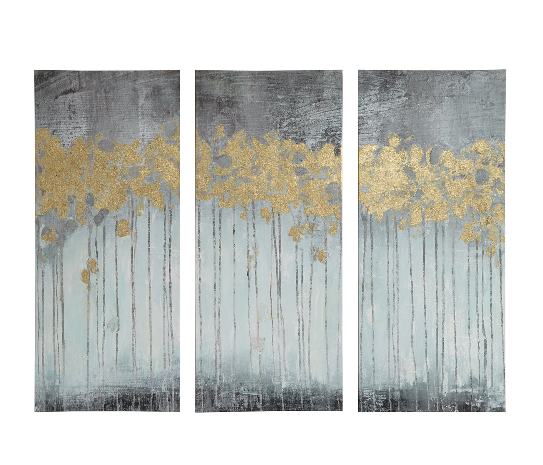 d7151a74837 Mercer41  Evening Forest  3 Piece Painting Print Set on Wrapped Canvas    Reviews