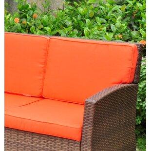 sunroom wicker furniture. Binney Wicker Resin Sofa With Cushions Sunroom Wicker Furniture