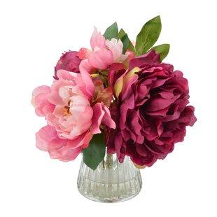 3c0604817b86 Bouquet of Peonies Floral Arrangement in Vase