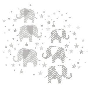 Elephants a Ton of Love 110 Piece Wall Decal Set