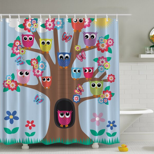 Ambesonne Owl Friends Tree Print Shower Curtain Reviews
