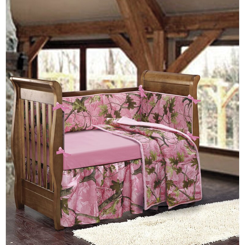 Salvatore 4 Piece Camouflage Crib Bedding Set