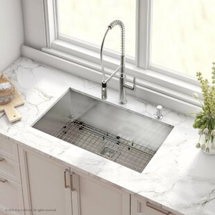 Stainless Steel Kitchen Sinks Undermount Undermount kitchen sinks youll love wayfair save to idea board kraus pax stainless steel 16 gauge 315 x 185 undermount kitchen sink workwithnaturefo