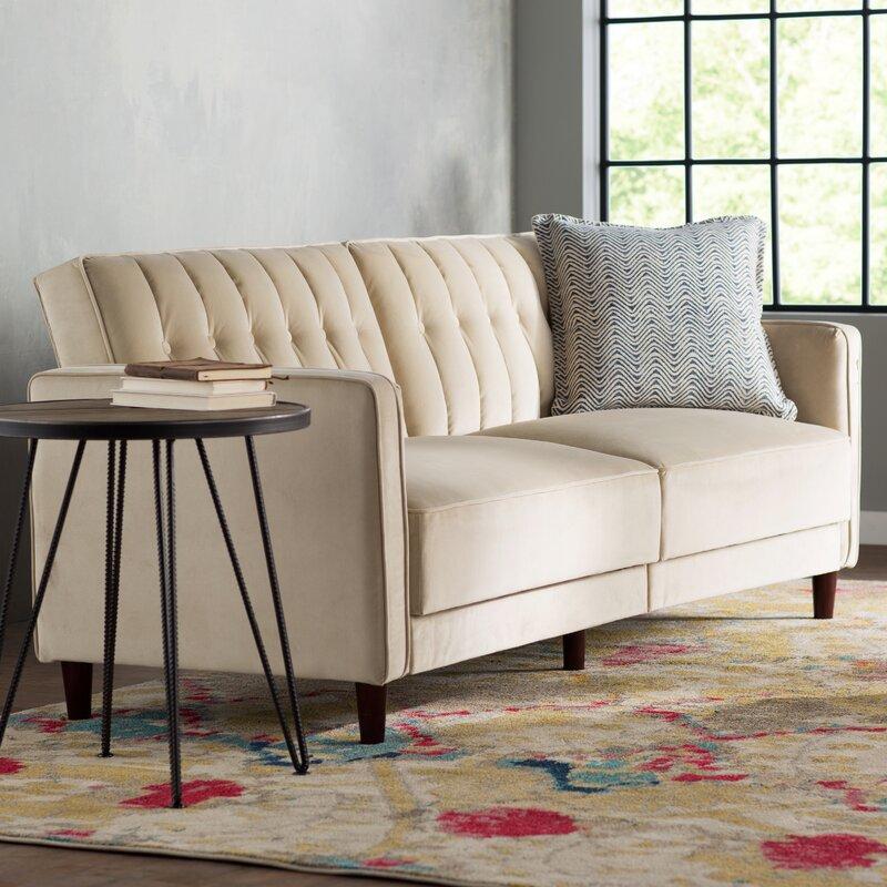 Nia Pin Tufted Convertible Sofa