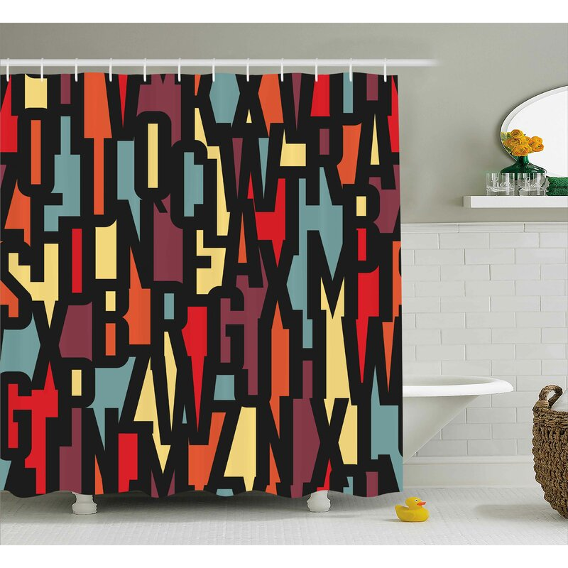 Keasler Mega City Urban Scenery With Medieval Castle Style Skyscrapers Illustration Shower Curtain