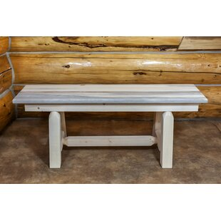 Abella Small Plank Style Wood Bench