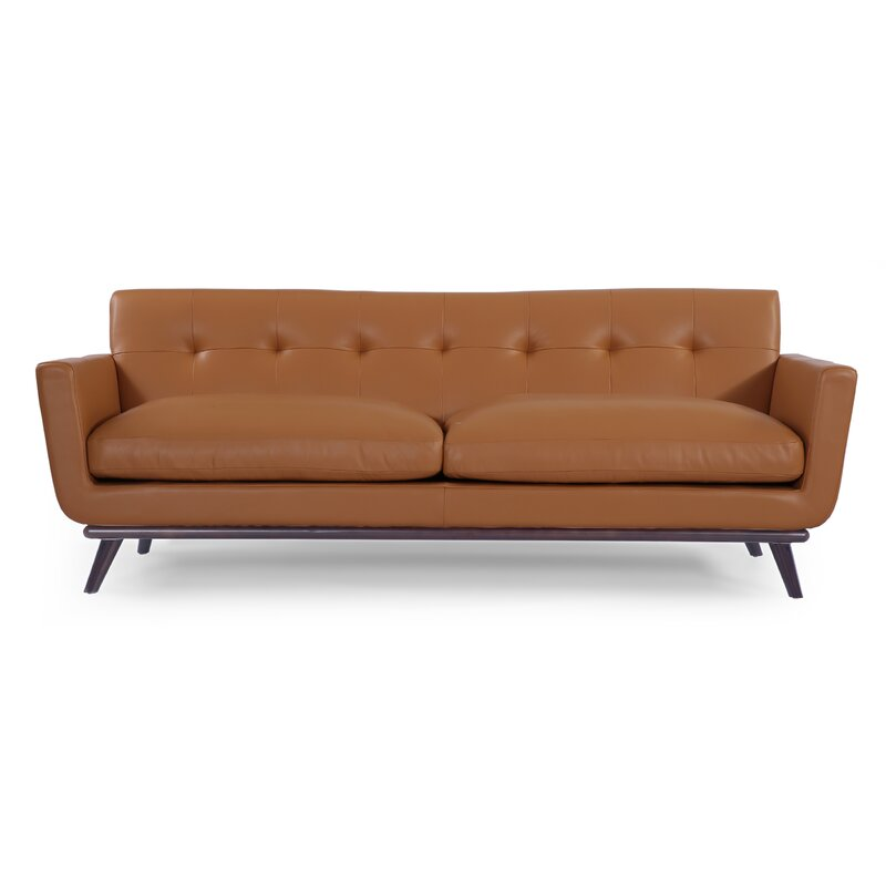 Etonnant Luther Mid Century Modern Vintage Leather Sofa