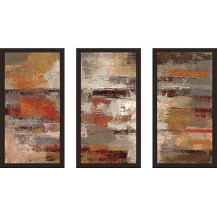 U0027Painted Desertu0027 Framed Acrylic Painting Print Multi Piece Image On Glass