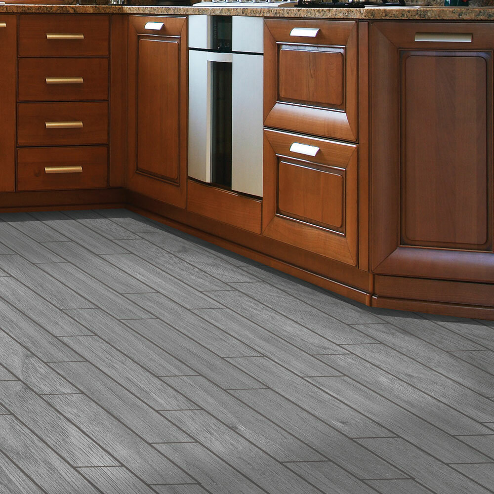 Snapstone Planks Thinline 6 X 24 Porcelain Wood Tile In Weathered Grey Reviews Wayfair