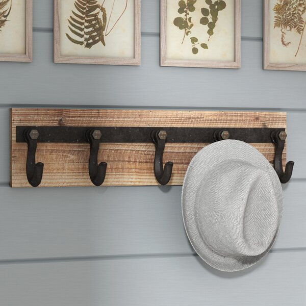 Laurel Foundry Modern Farmhouse Wood And Iron Wall Mounted