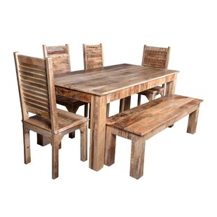 Kamps 6 Piece Solid Wood Dining Set