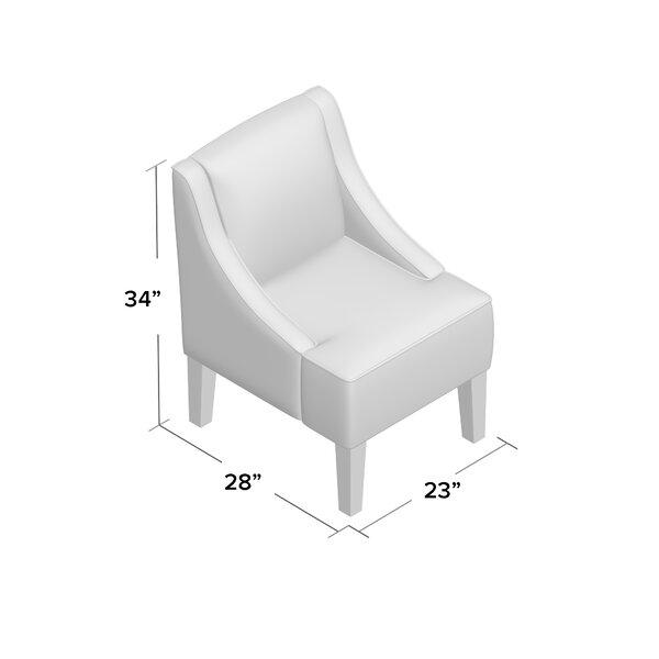 Andover Mills Geometric Hardwood Frame Slipper Chair